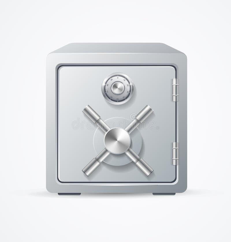 Cofre forte do metal da segurança Vetor ilustração stock