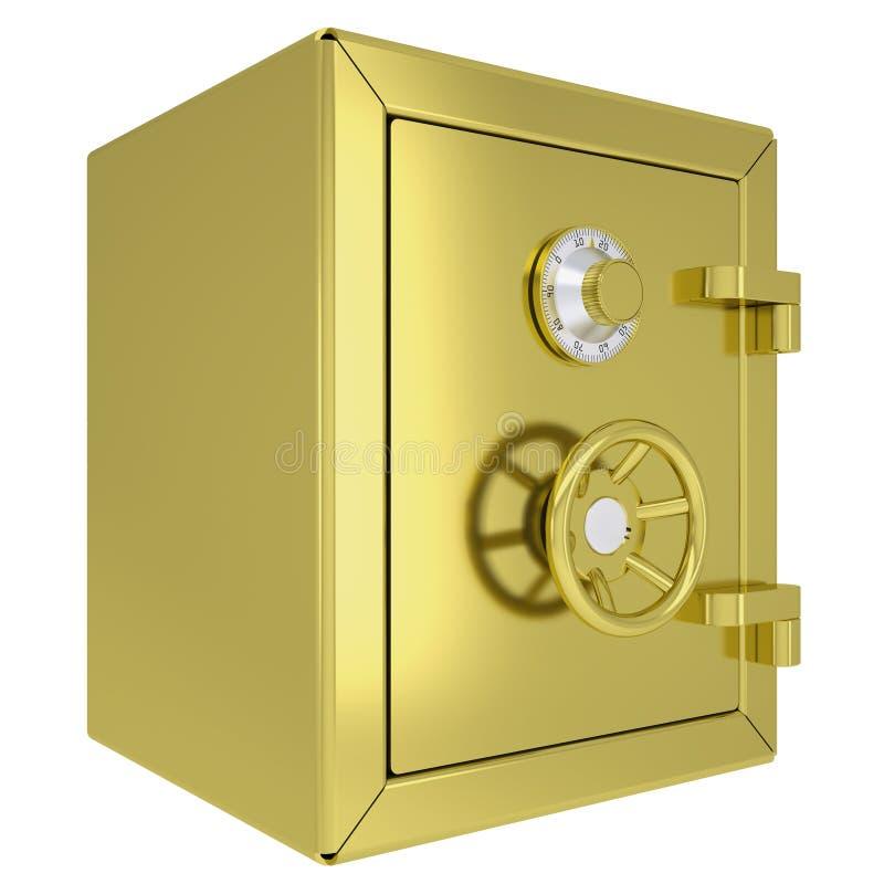 Cofre forte fechado do ouro ilustração stock