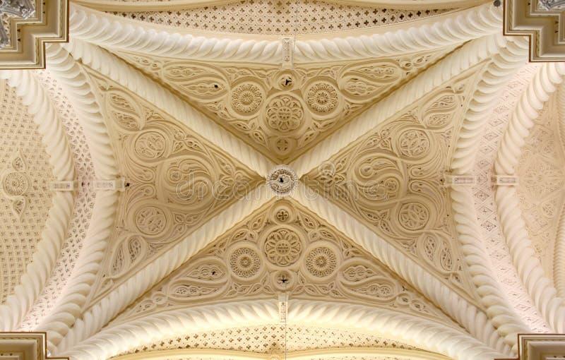 Cofre-forte gótico, erice, de cima de fotografia de stock