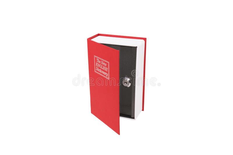 Cofre forte no livro imagem de stock