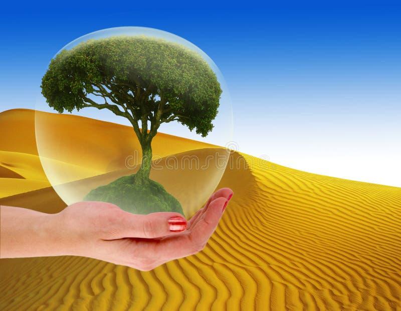 Cofre forte nosso conceito do planeta - sumário ilustração royalty free