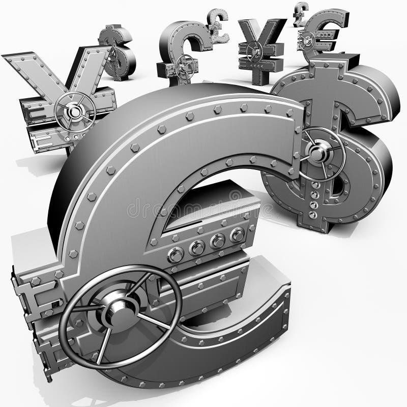 Cofres fortes da operação bancária ilustração stock