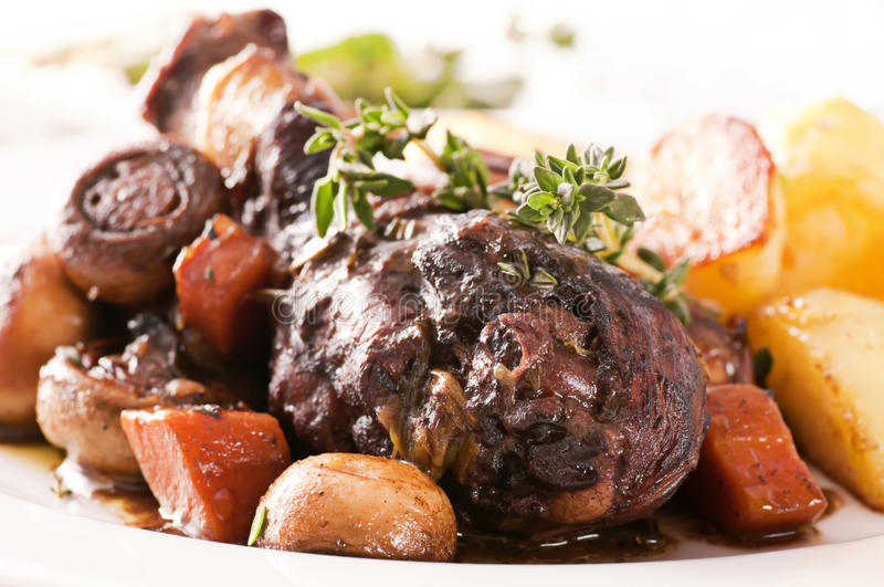 Cog au Vin. With potato stock photography