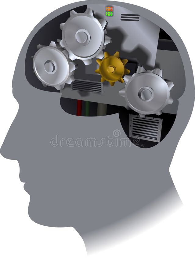 Cog Brain royalty free illustration