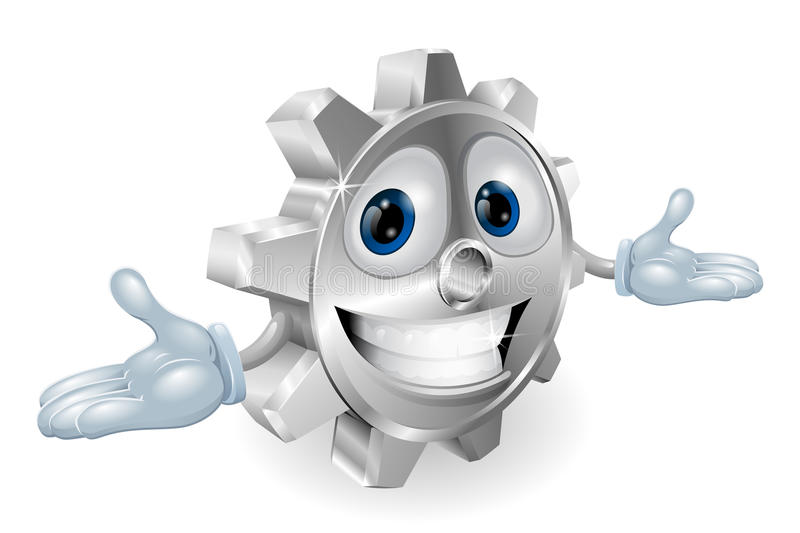 Cog Cartoon Character Royalty Free Stock Image