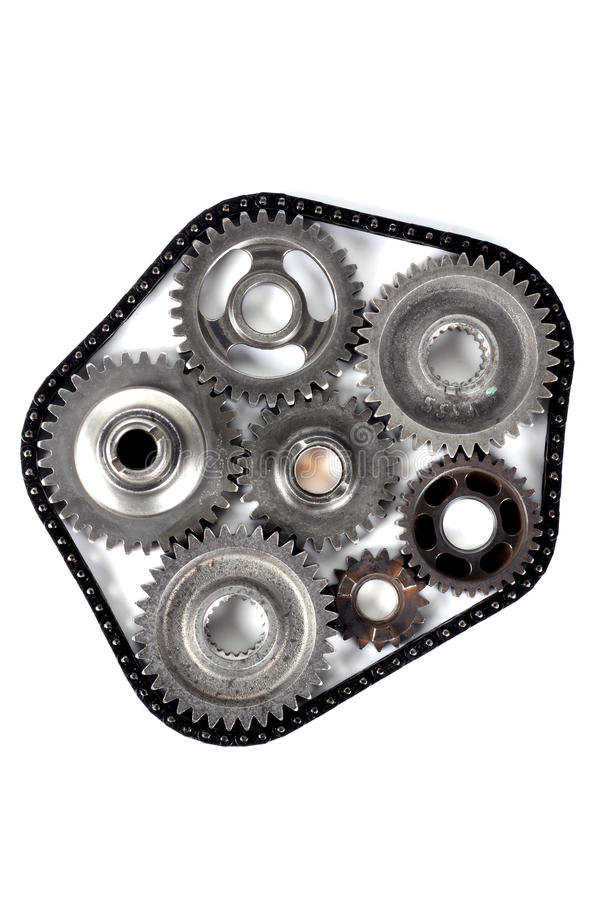 Cog engineering gears. With isolated background stock photo