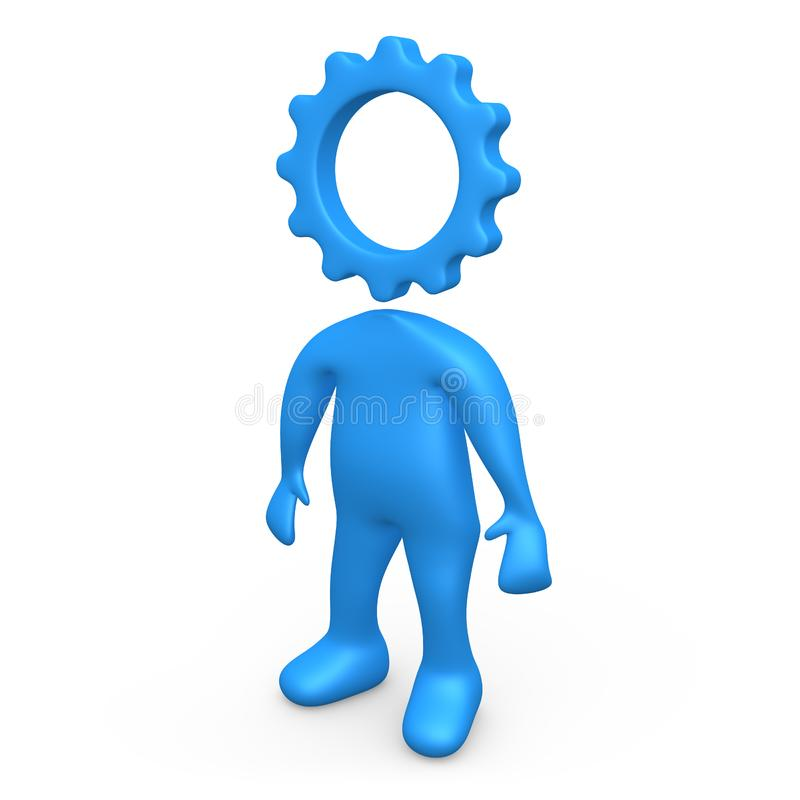 Cog Person stock photography