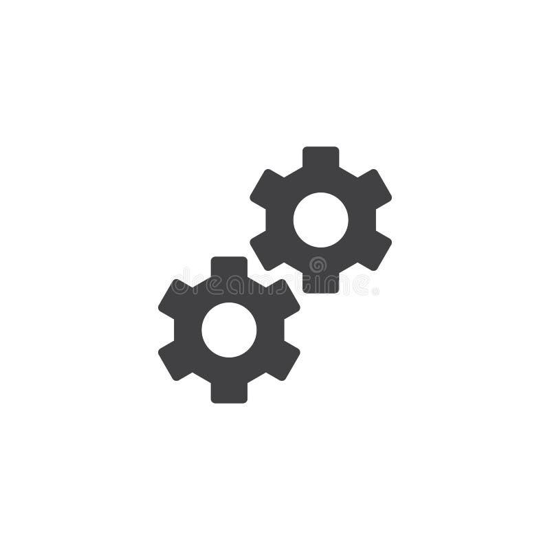 Cog toczy ikona wektor ilustracji