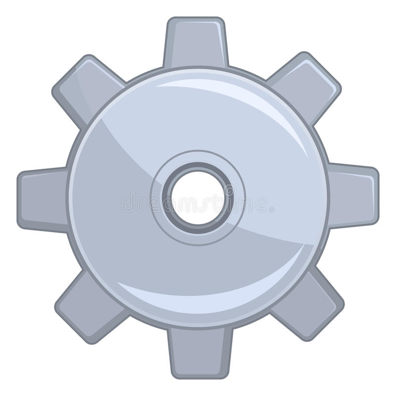 Cog Wheel. An illustration of an isolated cog wheel royalty free illustration