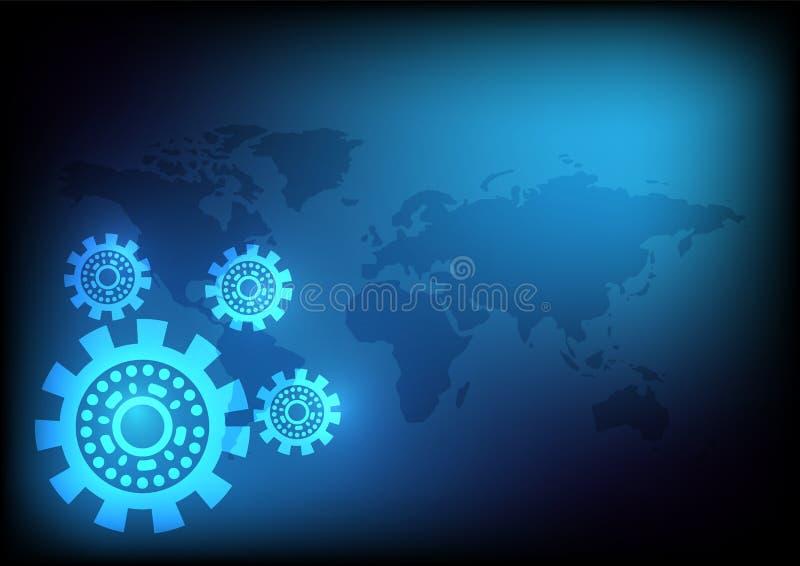 Cog wheel background. Is a general illustration stock illustration