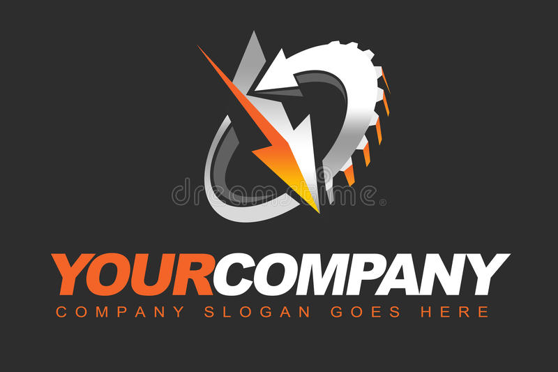 Cog-wheel Logo. An illustration of a business company logo representing a idler or a cog-wheel royalty free illustration