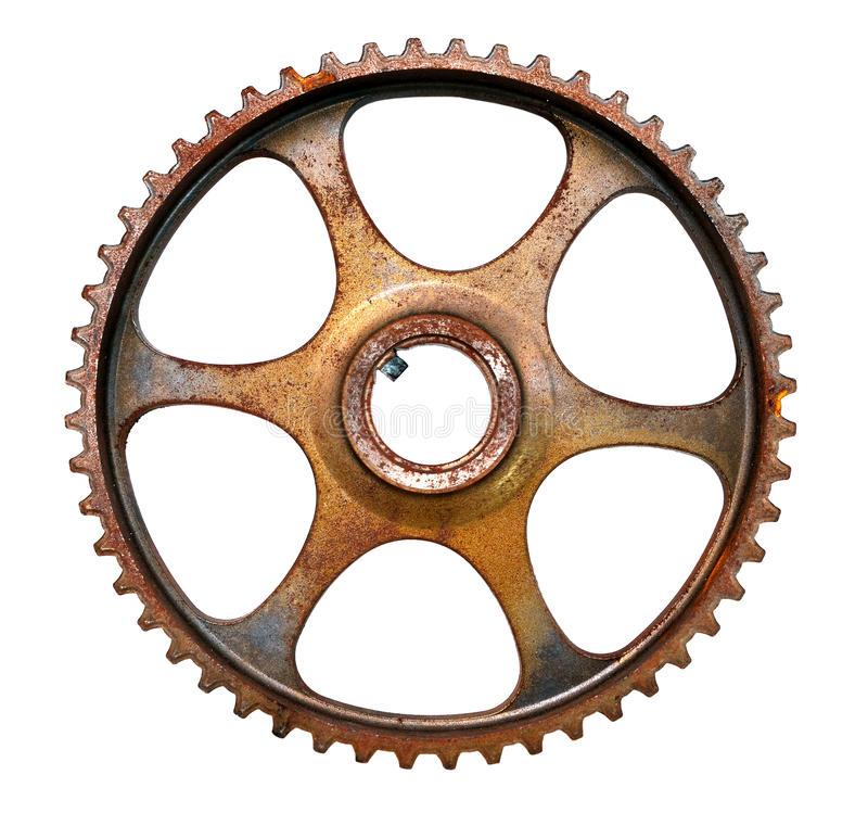 Cog wheel. Mechanical gear isolated on white background stock image