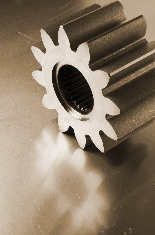 Cog-wheel in sepia stock photo