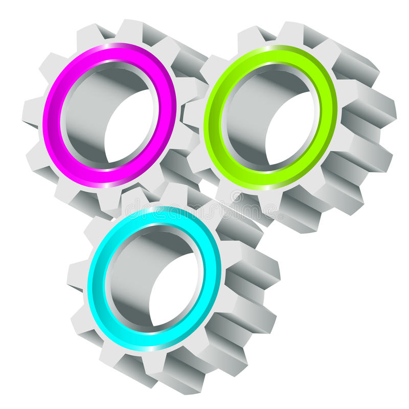 Download Cog wheels stock vector. Illustration of connect, motion - 26249860