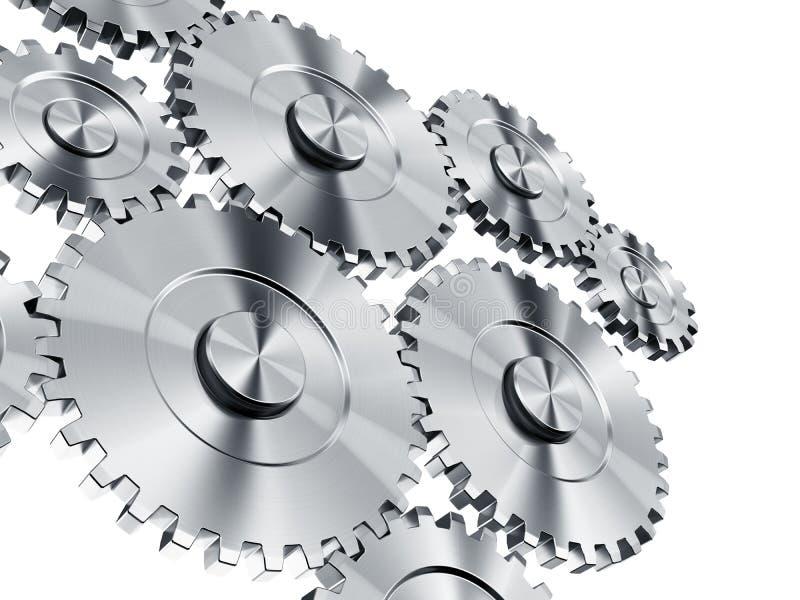 Cog wheels. 3d rendering of cog wheels vector illustration