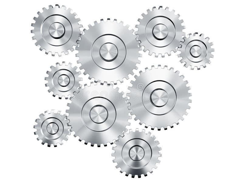 Cog wheels. 3d rendering of cog wheels stock illustration
