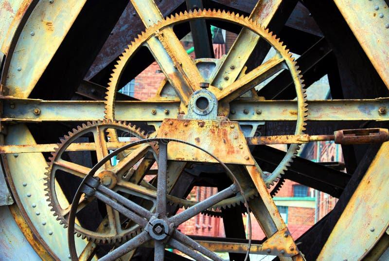Cog wheels. Machine industry background stock photos