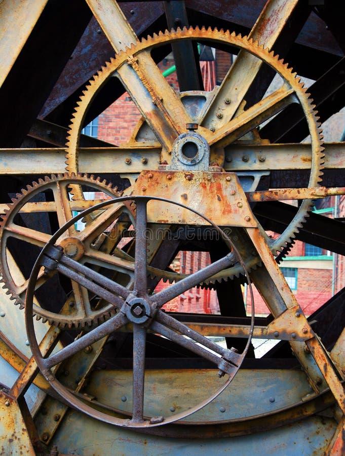 Cog wheels. Machine industry background stock image