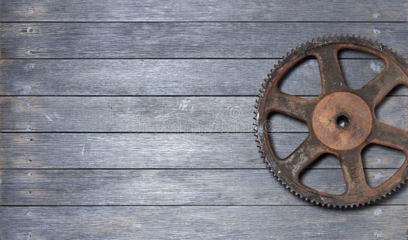 Cog Wood Background stock image