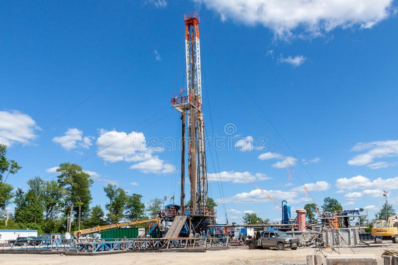 A Marcellus Shale Gas Site royalty free stock photography
