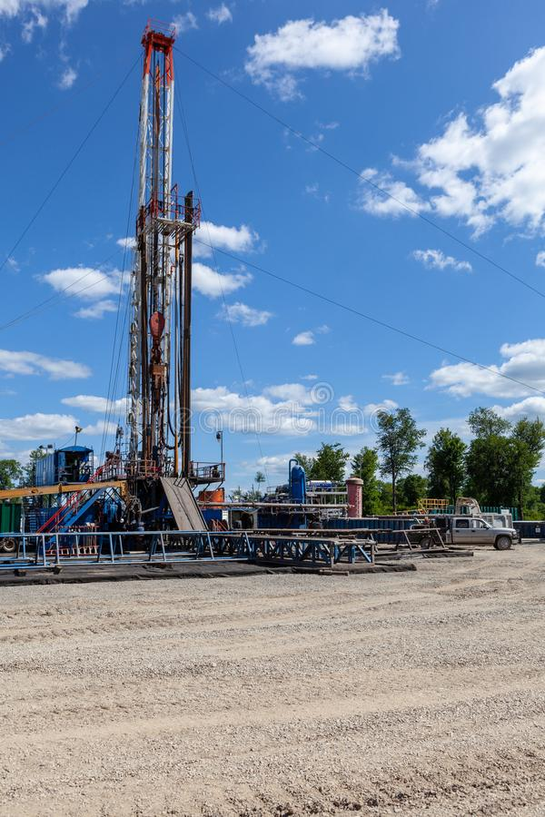 Marcellus Shale Drilling Rig stock photos
