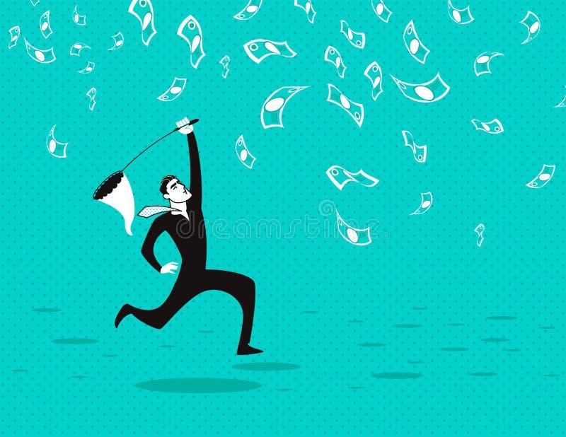 Coge un efectivo neto stock de ilustración