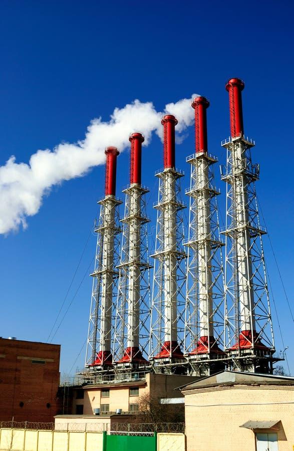 Cogeneration plant royalty free stock photo