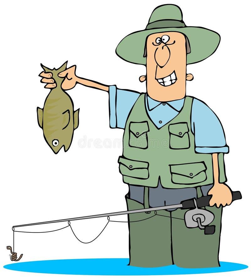 Cogida de un pescado ilustración del vector