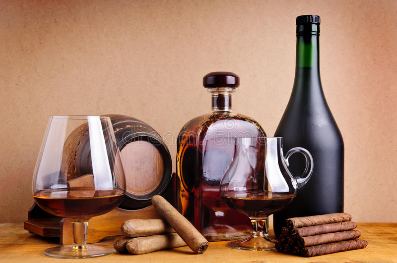 Cognac And Cigars Stock Images Image 17672544