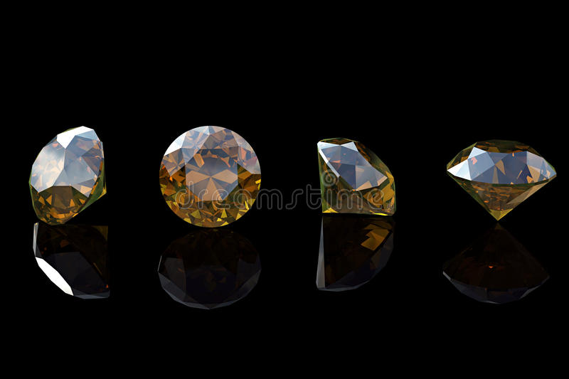 Cognac diamond. Collections of jewelry gems royalty free stock images
