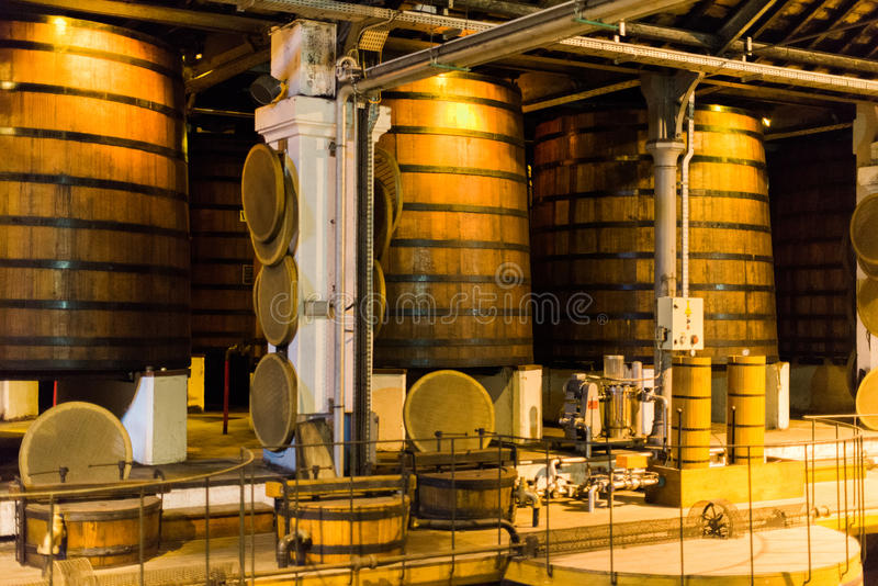 Cognac Distillery. Inside a Cognac Distillery in the South of France royalty free stock images