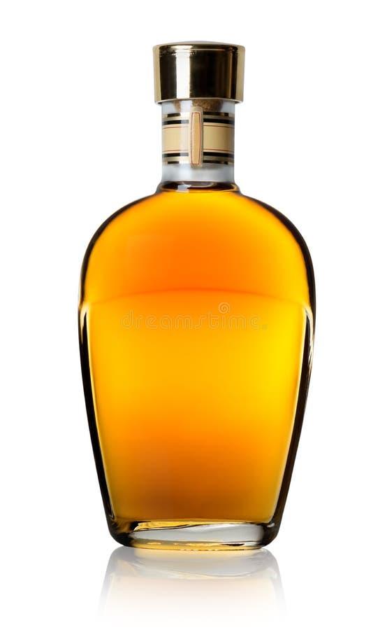 Cognac in een fles stock foto's