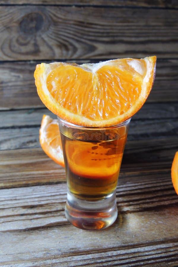 Cognac en sinaasappel stock afbeeldingen
