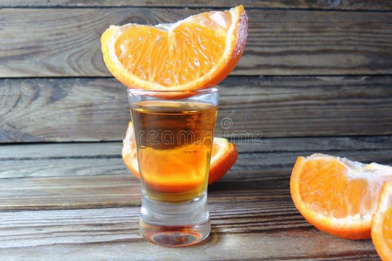 Cognac en sinaasappel royalty-vrije stock foto's