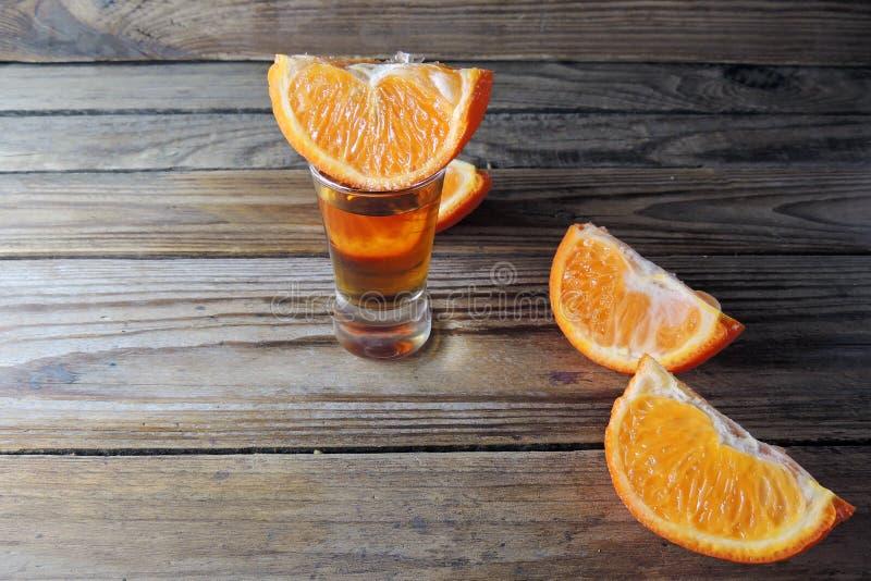 Cognac en sinaasappel royalty-vrije stock afbeeldingen