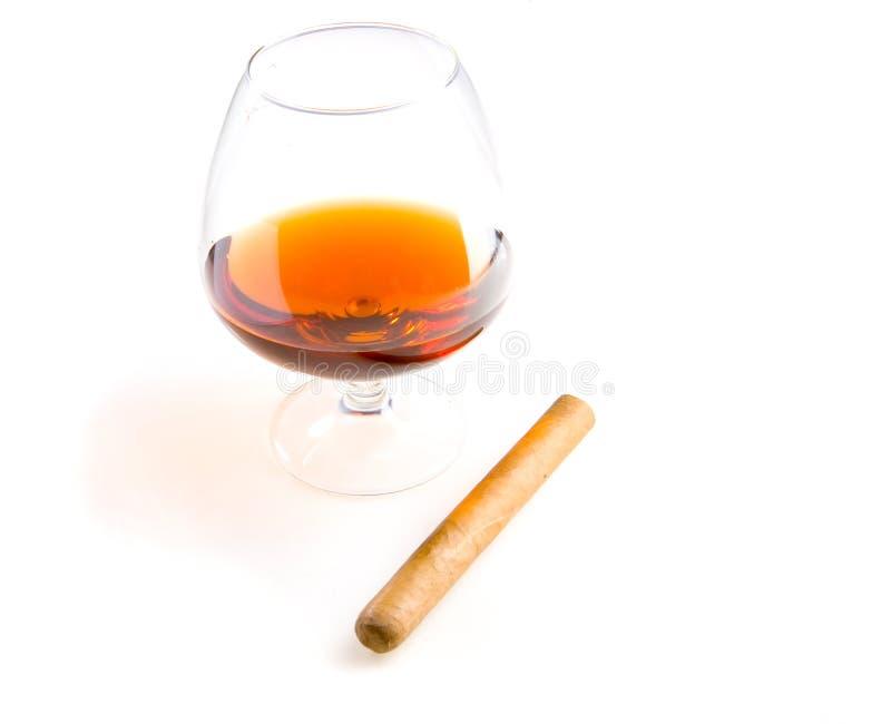 Cognac et cigare photos libres de droits