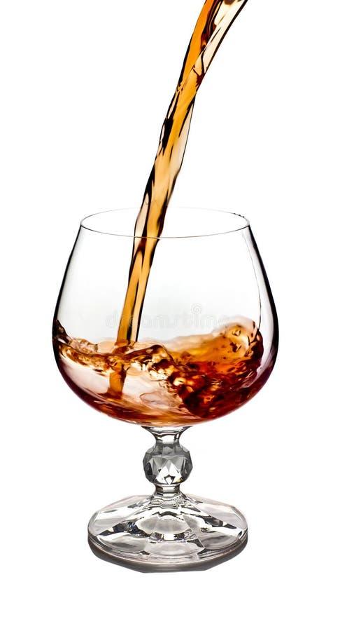 cognacexponeringsglas arkivbild