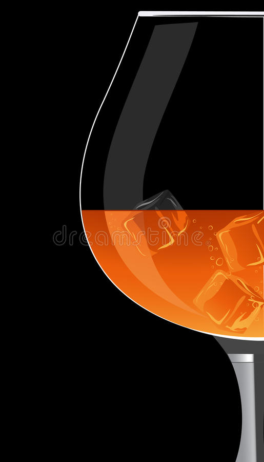 Cognacglas vector illustratie