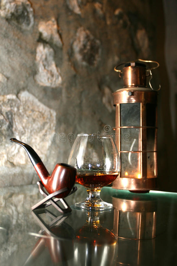 Cognacglas royalty-vrije stock foto's