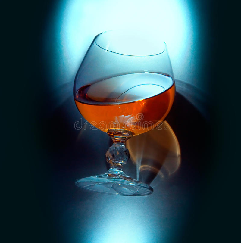 Cognacglas stock fotografie