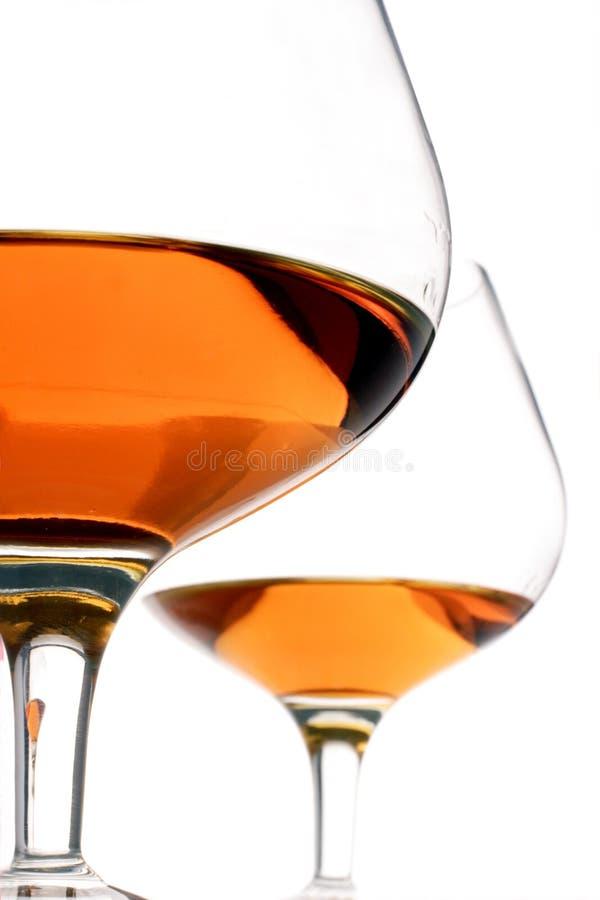 Cognacglazen stock foto's