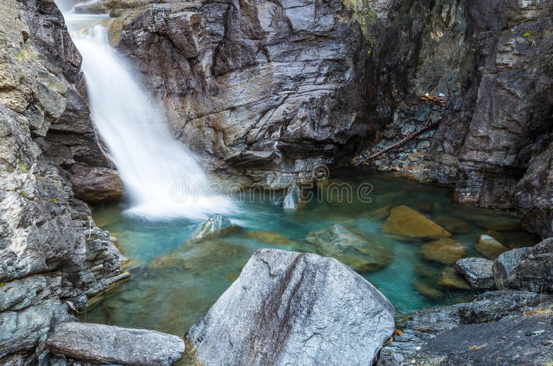 Cogne and the Gran Paradiso National Park. Cogne, Italy - at the Gran Paradiso National Park stock photography