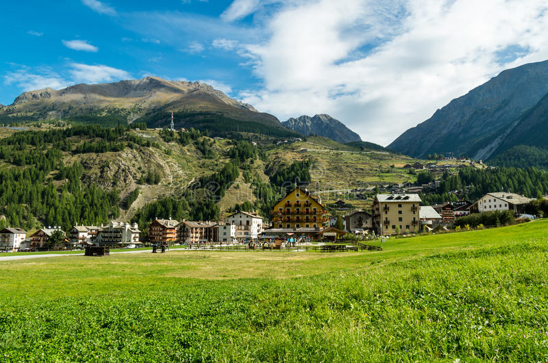 Cogne and the Gran Paradiso National Park. Cogne, Italy - at the Gran Paradiso National Park royalty free stock images