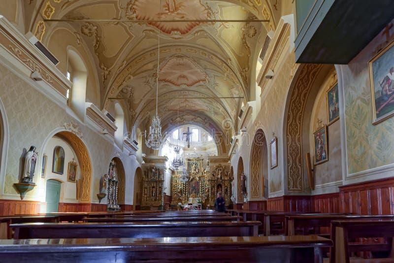 COGNE, ITALY/EUROPE - 26 OTTOBRE: Vista interna del ` Orso Ch di Sant immagine stock