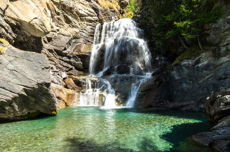 Cogne und der Nationalpark Gran Paradiso stockbild
