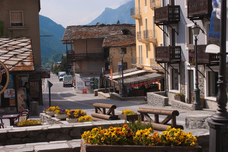 Cogne, val del aosta, Italia fotografie stock