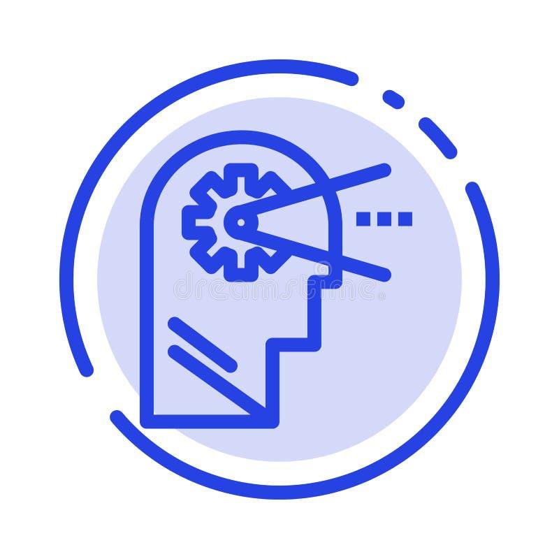 Cognitief, Proces, Mening, leid het Blauwe Pictogram van de Gestippelde Lijnlijn royalty-vrije illustratie