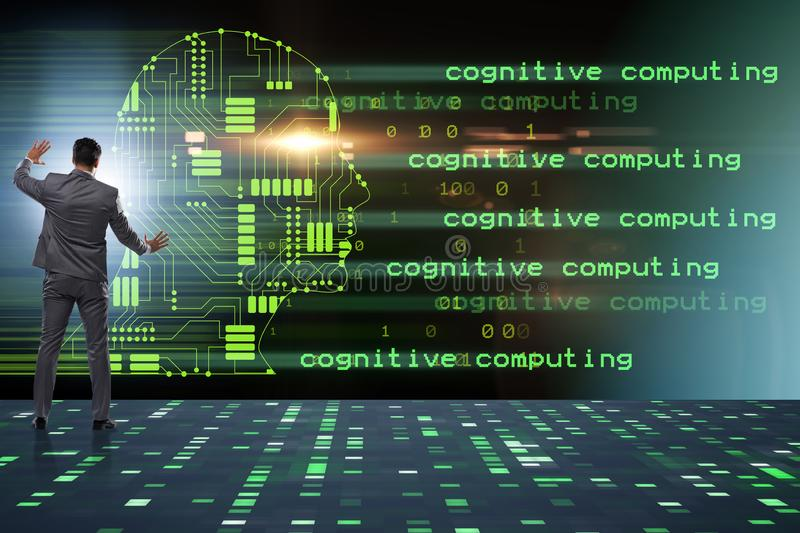 The cognitive computing and machine learning concept. Cognitive computing and machine learning concept stock photo