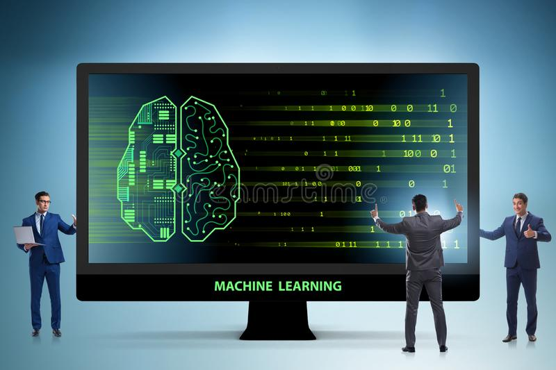 The cognitive computing and machine learning concept. Cognitive computing and machine learning concept royalty free stock photography
