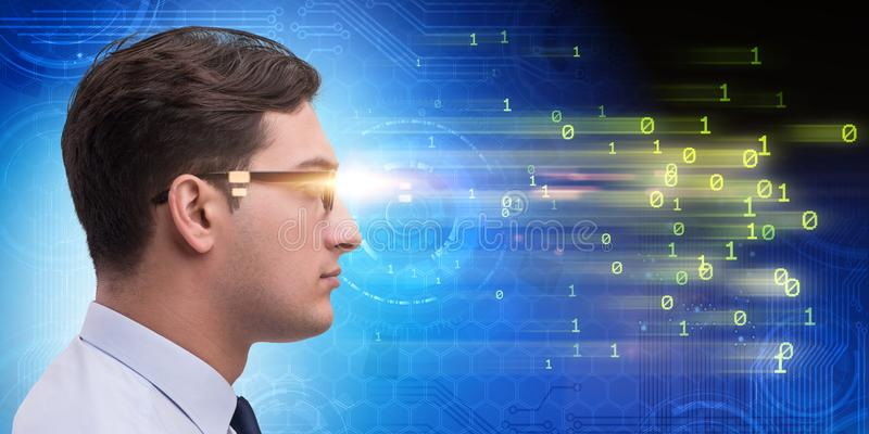 The cognitive computing and machine learning concept. Cognitive computing and machine learning concept stock photos